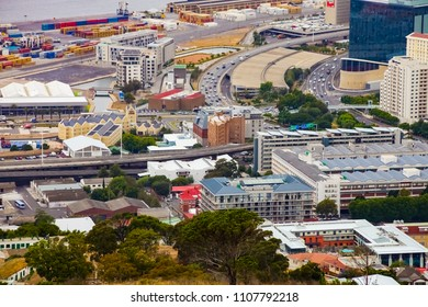 Cape Town, South Africa, December 07, 2011, Elevated view of Cape Town city foreshore