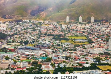 Cape Town, South Africa, December 07, 2011, Elevated view of Cape Town City