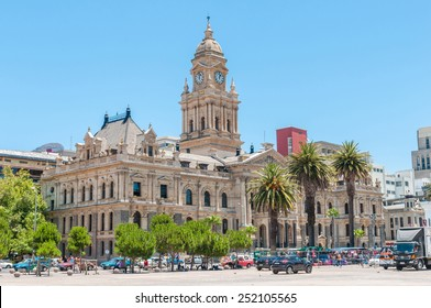 CAPE TOWN, SOUTH AFRICA - DECEMBER 2014: Unidentified people in front of the historic city hall. On February 11, 1990, Nelson Mandela made his first public speech after his release from the balcony