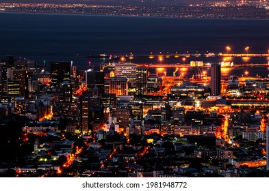 cape town south africa at dusk