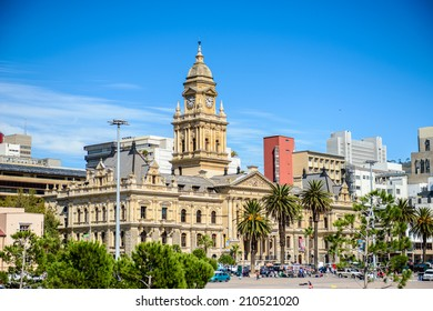 CAPE TOWN, SOUTH AFRICA - FEB 22, 2013: City Hall of Cape Town, South Africa. Cape town is the most popular international touristic destination in Africa