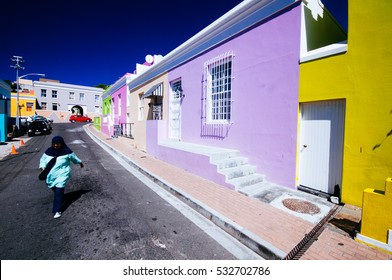 CAPE TOWN, SOUTH AFRICA - FEB 02: colored bo kaap neighborood depicted  on the fourth of february 2010 , cape town , south africa.