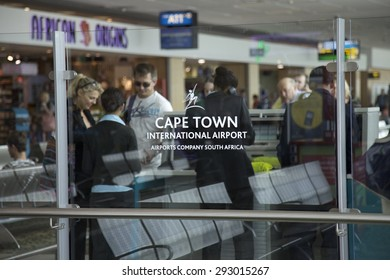 Cape Town, South Africa - January 8, 2013: Inside Cape Town international airport, Cape Town, Western Cape, South Africa