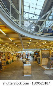 CAPE TOWN, SOUTH AFRICA - JULY 23, 2018: African design and craft has found a new home in light and airy space of recently opened Watershed (formerly Blue Shed) at V&A Waterfront in Cape Town.