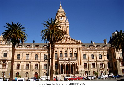 CAPE TOWN, SOUTH AFRICA - JULY 4: City Hall on 4 July 2000 at Cape Town. The City Hall of Cape Town is a colonial style building.