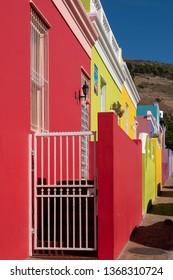 Cape Town, South Africa, March 2019. Malay Quarter, Bo-Kaap, Cape Town. Historical area of brightly painted houses in the city centre, housing largely Muslim families.