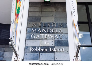 CAPE TOWN , SOUTH AFRICA- MARCH 25 -The Nelson Mandela Gateway to Robben Island and Clocktower at the Cape town Waterfront in South Africaon 25TH march 2010 in Cape Town ,South Africa