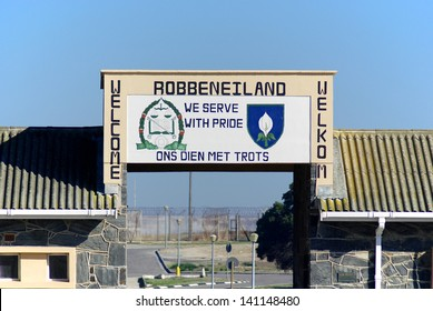 CAPE TOWN SOUTH AFRICA NOVEMBER 23: Outside Robben Island prison where Nobel Laureate and former President of South Africa Nelson Mandela was imprisoned on november 23 2009 in Cape Town South Africa.