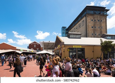 Cape Town, South Africa - November 12, 2016: Neighbourgoods Market in the Old Biscuit Mill in the heart of the Woodstock district of Cape Town: Every Saturday fresh local food, designer goods and live