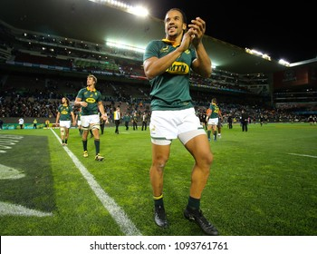 CAPE TOWN, SOUTH AFRICA - Saturday 7 October 2017, Courtnall Skosan of South Africa during the Castle Lager Rugby Championship Test between South African Springboks and the New Zealand All Blacks.
