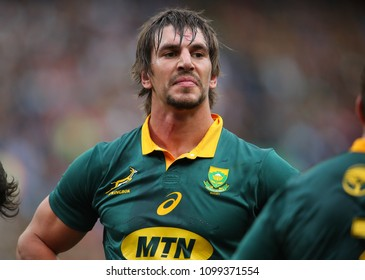 CAPE TOWN, SOUTH AFRICA - Saturday 7 October 2017, Eben Etzebeth (captain) of South Africa during the Castle Lager Rugby Championship Test between South African Springboks and the New Zealand All Blac