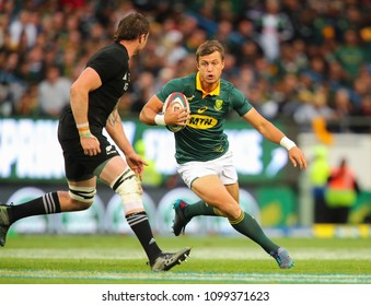 CAPE TOWN, SOUTH AFRICA - Saturday 7 October 2017,  Handre Pollard of South Africa during the Castle Lager Rugby Championship Test between South African Springboks and the New Zealand All Blacks
