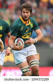 CAPE TOWN, SOUTH AFRICA - Saturday 7 October 2017, Lood de Jager of South Africa during the Castle Lager Rugby Championship Test between South African Springboks and the New Zealand All Blacks.