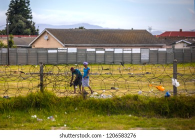 Cape Town, Western Cape province/  South Africa - 12.29.2017: township near Cape Town
