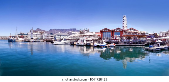 Cape Town, Western Cape, South Africa, November 7, 2018: Seafront in Cape Town. The Waterfront in Cape Town.
