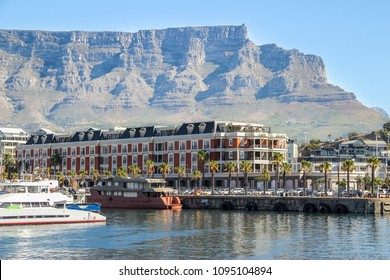 Cape Town, Western Cape / South Africa - 02 26 2017: Cape Town, waterfront with Table Mountain in the background.