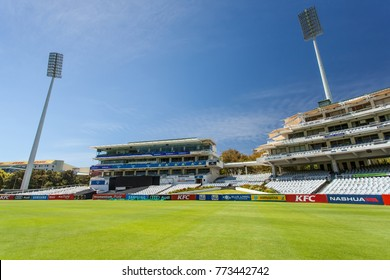 Cape Town, Western Cape, South Africa, 2017/12/10. Newlands Cricket ground in Cape Town. Cricket stadium in South Africa.