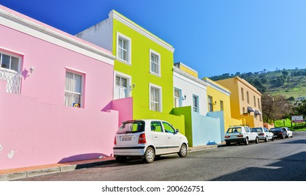 CAPE TOWN,SOUTH AFRICA - JUNE 28:The Bo-Kaap area in Cape Town, on june 28,2010.Formerly known as the Malay Quarter. It is a Township, situated on the slopes of Signal Hill above the city centre