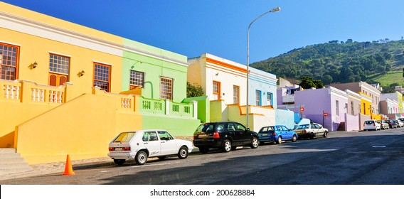 CAPE TOWN,SOUTH AFRICA - JUNE 28:The Bo-Kaap in Cape Town,on june 28,2010.Formerly known as the Malay Quarter, it is a Township, situated on the slopes of Signal Hill above the city centre