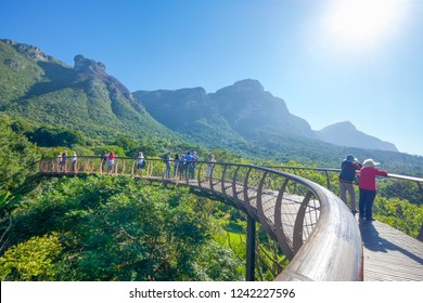 Cape Town/South Africa – May 2018: Visitors at the Kirstenbosch National Botanical Garden.