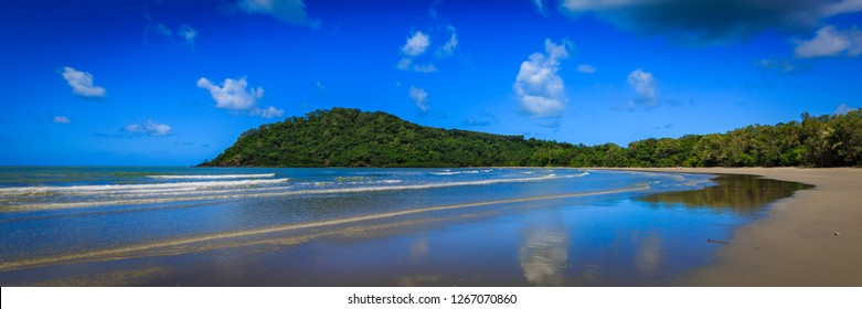 Cape Tribulation, Australia where the world heritage listed Daintree Rainforest meets the Great Barrier Reef. It is a tropical paradise!