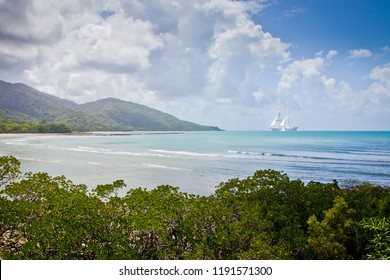 Cape Tribulation named by the English explorer James Cook when he sailed into the Great Barrier Reef creating a hole in his ship the Endeavour. He pulled a sail under the ship to plug the hole.