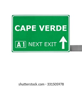CAPE VERDE road sign isolated on white