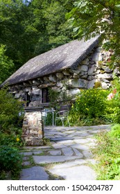 Capel Curig, Wales - 7 September 2019: The Ugly House on a Sunny Day