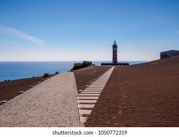 Capelinhos Lighthouse, Faial Island, Azores, Portugal