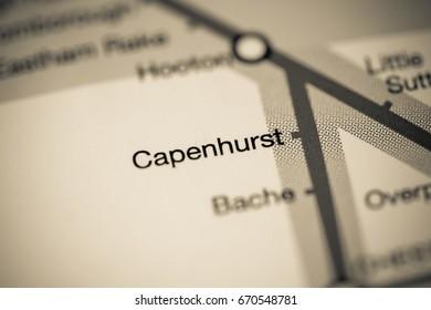 Capenhurst Station. Liverpool Metro map.