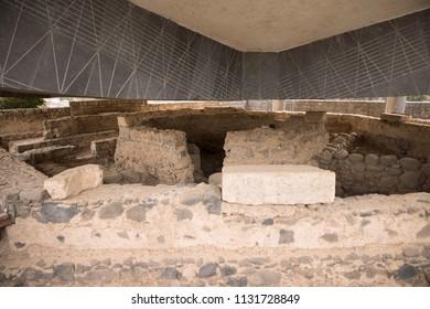 Capernaum, Israel - December 21 2017: The ruins of Capernaum The Town Of Jesus.