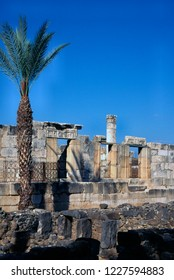 Capernaum, Israel, excavated synagogue in ancient, March 5, 1998