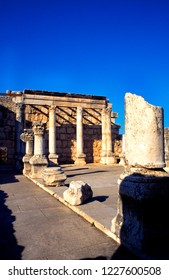 Capernaum, Israel, excavated synagogue in ancient March 5, 1998