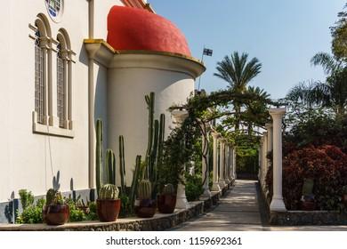 CAPERNAUM, ISRAEL, March 31 2018: The Greek Orthodox Church Of The Twelve Apostles In Capernaum, Israel.