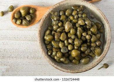 Capers in a Small Bowl