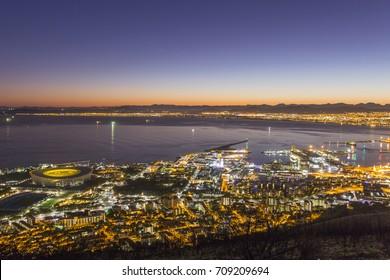Capetown City Sunrise South Africa