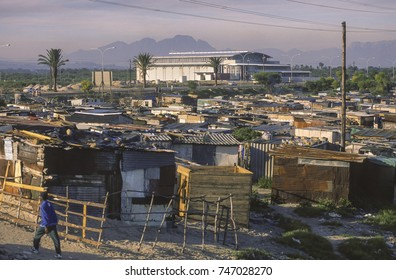 CAPETOWN, SOUTH AFRICA - MAY 25, 1999: Low income housing and poverty in Khayelitsha township.