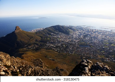 Capetown views from the Tabletop Mountain, South Africa