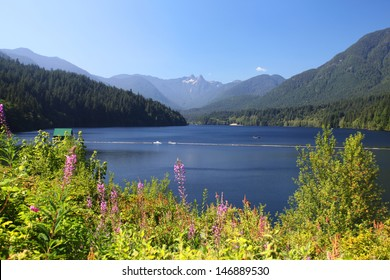 Capilano Lake in British Columbia, Canada