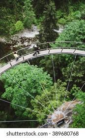 The Capilano Suspension Bridge Park in Vancouver, BC.