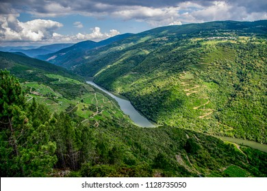 Capilla lookout, in Puebla de Brollon, Galicia, Spain: viewpoints Sil river