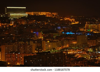 The capital of Algeria at night - City alger