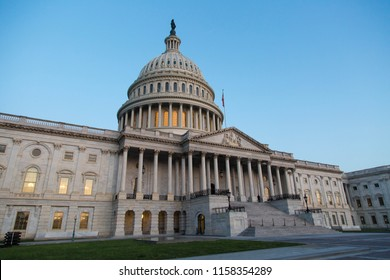 Capital Building in Washington DC at sunrise