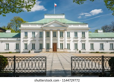 Capital city of Poland. Belvedere palace (Belweder) used as president's office.