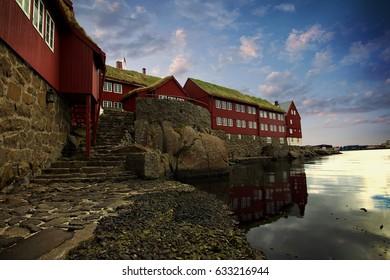 The capital city of Torshavn in the Faroe Islands