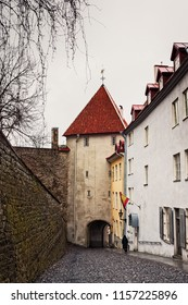 The capital of Estonia has a beautiful medieaval old town. The place is filled with alleys and buildings like this.