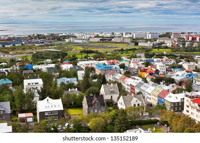 Capital of Iceland, Reykjavik, view from the Hallgrimskirkja Church