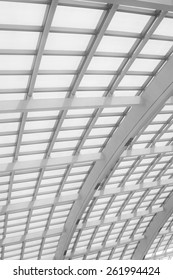 Capital International Airport fornix truss, closeup of pictures