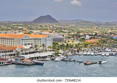 Capital Oranjestad from the Sky, Aruba