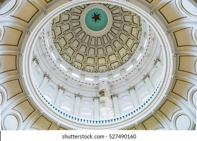 THE CAPITAL ROTUNDA, AUSTIN, TX, September 26, 2016: The dome of the rotunda inside the Texas State Capitol, the largest capitol building in the United States.